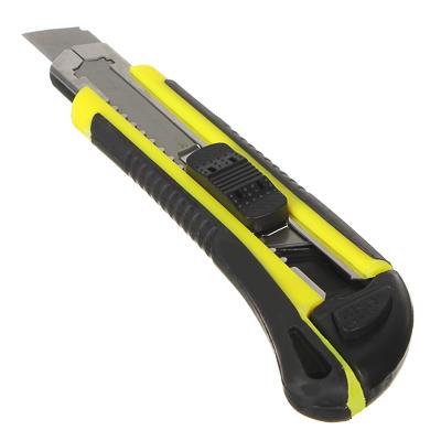 Нож универс. с выдвижным сменными лезвиями 18мм.