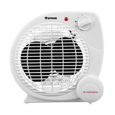 ЕРМАК Тепловентилятор ТВ-2002 (2 режима, 1000/2000Вт), термостат, защита от перегрева, индикатор вкл