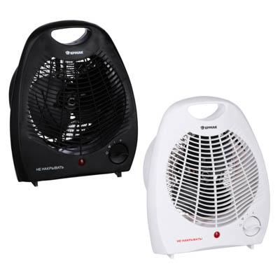 ЕРМАК Тепловентилятор ТВ-2000 (2 режима, 1000/2000Вт), термостат, защита от перегрева, индикатор вкл