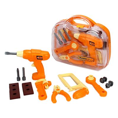 Набор инструментов детский 12пр, 28х26х9см, пластик ABC, 3+