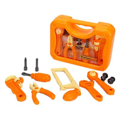 Набор инструментов детский 11пр, 26,5х19,5х7,5см, пластик ABC, в пластик.дисплее, 3+
