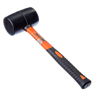 ЕРМАК Киянка черная резина 450гр (фибреглассовая обрезиненная рукоятка)