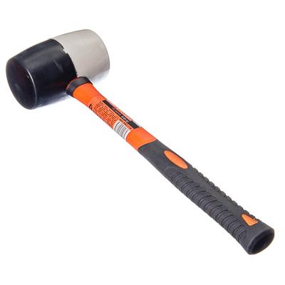 ЕРМАК Киянка черная-белая резина 450гр (фибреглассовая обрезиненная рукоятка)