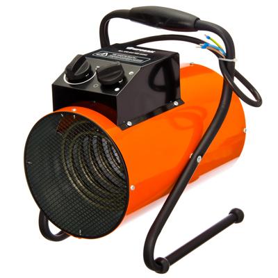 ЕРМАК Тепловая пушка электр.ТПЭ-45260, 4,5кВт, 260М3, 3 реж (0,03/3,0/ 4,5кВт), цилиндрическая
