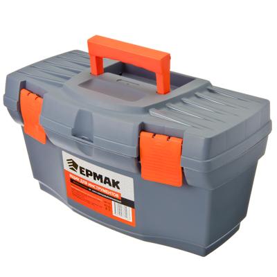 """Ящик для инструментов Master Economy 16"""" серо-свинцовый / оранжевый, арт.669139"""