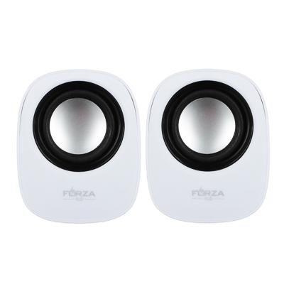 Фото товара FORZA USB аудио-колонки, 2 шт, квадратные, 7x7см, провод 65см, 3.5мм Jack