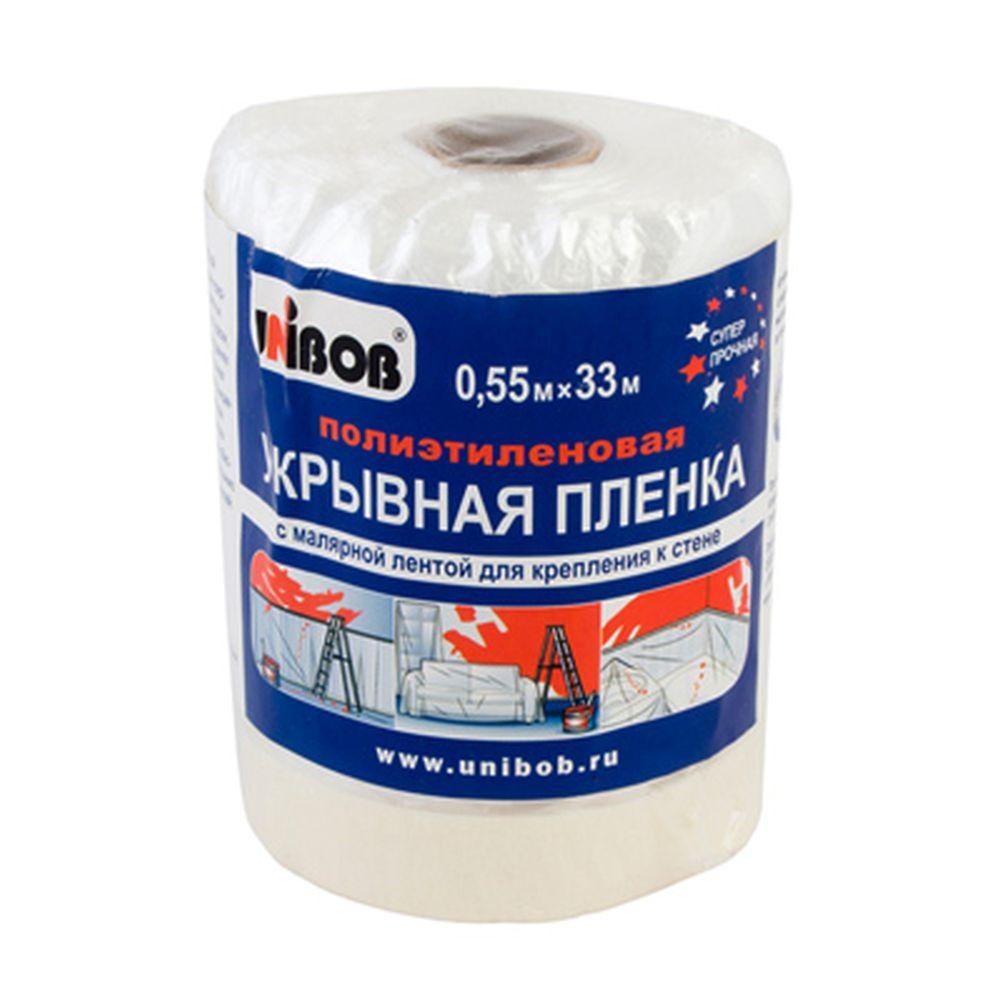 Unibob пленка укрывная с малярной лентой х м арт