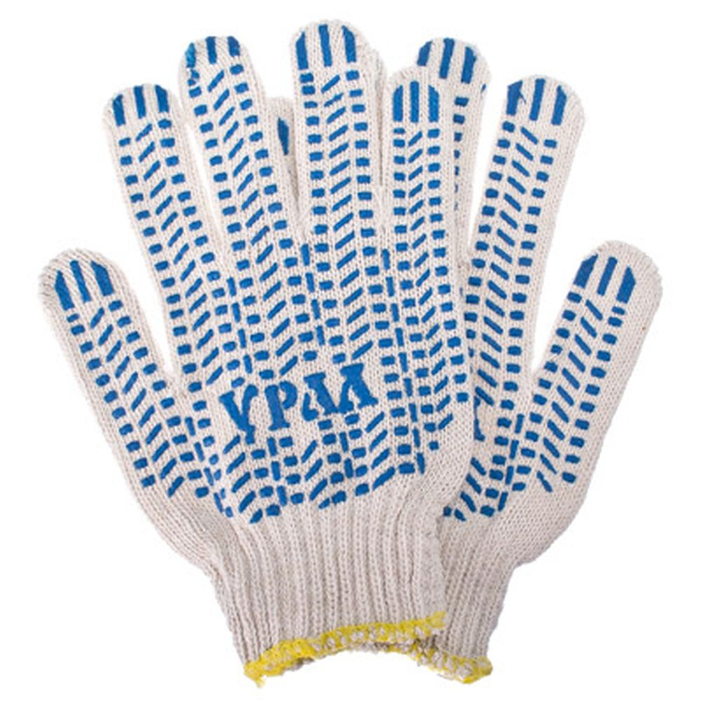 Перчатки вязаные х б