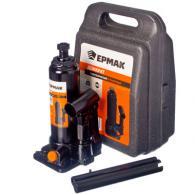 ЕРМАК Домкрат гидравлический бутылочный 2 т, в кейсе, высота подъема 181-345мм, ...