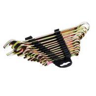 ЕРМАК Набор ключей рожково-накидных, 12 предм., 6-22мм, желтый цинк,