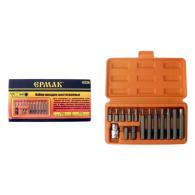 ЕРМАК Набор бит в пластиковом кейсе, рабочий профиль HEX. 15 предметов (CR-V)