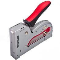 ЕРМАК Степлер мебельный рессорный регул. металл., двухком. рукоятка, тип скобы 5...