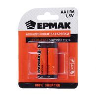 "ЕРМАК Батарейки 2шт ""Alkaline"" щелочная, тип AA (LR6), 1,5В"