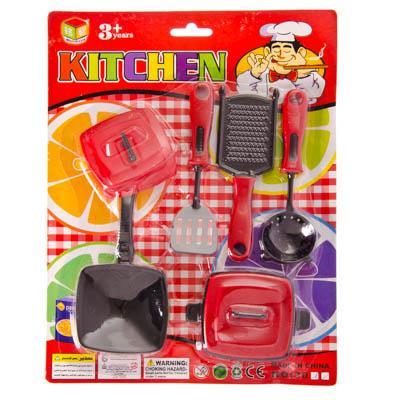 Набор детской посуды, пластик, 21х28,5х4см, 2 дизайна, 3086/3087