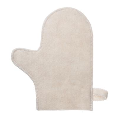 Картинка Варежка банная без вышивки, фетр, 80% шерсть, 20% полиэстер, 22x28x0,5см в сети магазинов постоянных распродаж Галамарт