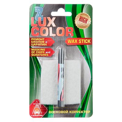 Картинка Корректор восковой LUX COLOR с аппликатором, серый в сети магазинов постоянных распродаж Галамарт