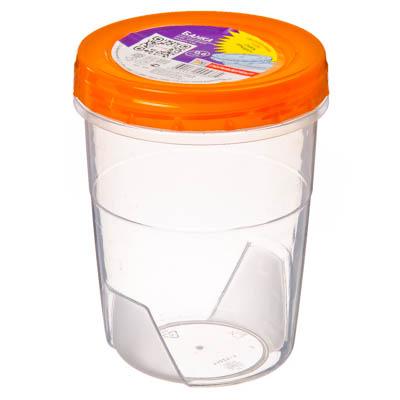 Картинка Банка для хранения продуктов 0,6л, пластик, Полимербыт, арт.433 в магазинах Галамарт - большой выбор самых разных предметов, необходимых на кухне