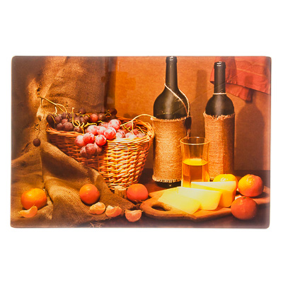 """Картинка VETTA Доска разделочная стеклянная 20х30х0,4см """"Ретро"""", дизайн GC в магазинах Галамарт - большой выбор самых разных предметов, необходимых на кухне"""