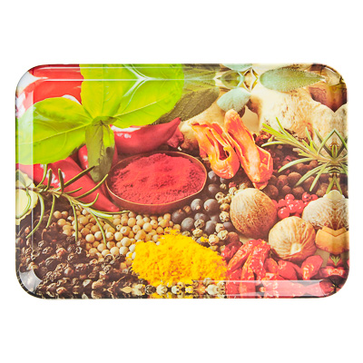 """Картинка VETTA Поднос пластик, 34х24см """"Специи"""", дизайн GC в магазинах Галамарт - большой выбор самых разных предметов, необходимых на кухне"""
