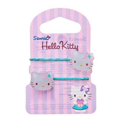 Картинка HELLO KITTY Набор заколок-невидимок, 2шт, металл, пластик, 5 цветов, №1 в сети магазинов постоянных распродаж Галамарт