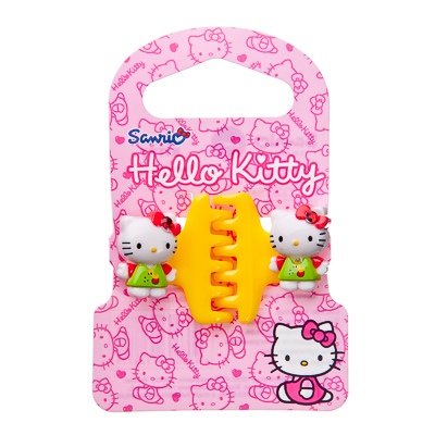 Картинка HELLO KITTY Заколка-краб, 2 шт, пластик, 2 дизайна, 4 цвета, HKSC123C2 в сети магазинов постоянных распродаж Галамарт