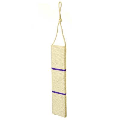 Картинка Когтеточка подвесная, прямая, МДФ, сизаль, 10х45см в сети магазинов постоянных распродаж Галамарт