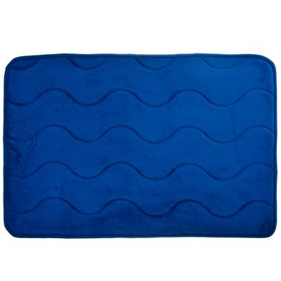 """Картинка VETTA Коврик для ванной флис, принт, ортопедическая пена 1,2см, 40x60см, """"Волна синяя"""" в сети магазинов постоянных распродаж Галамарт"""