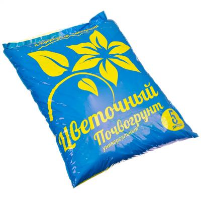 Картинка Почвогрунт универсальный цветочный 5л/2,7кг в магазинах Галамарт