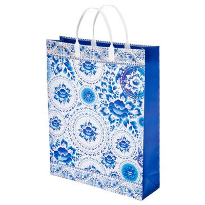 Картинка Пакет мягкий пластик, 40х30см, Гжель в сети магазинов постоянных распродаж Галамарт