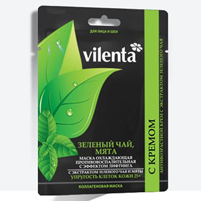 Картинка Маска для лица VILENTA Зеленый чай/мята, арт.В05 в сети магазинов постоянных распродаж Галамарт