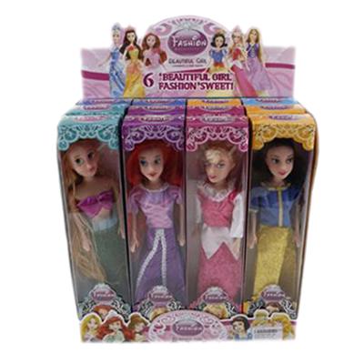 """Картинка Кукла """"Принцесса"""", пластик, текстиль, 23см, 4 дизайна, B1430308 в сети магазинов постоянных распродаж Галамарт"""
