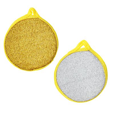 VETTA Набор губок для посуды круглых 2шт, махровые, поролон, 12см, 2 цвета