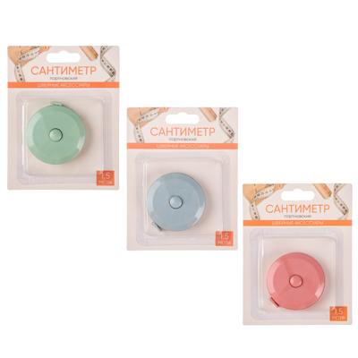 Фото товара Сантиметр портновский 1,5м, в рулетке, пластик, ПВХ