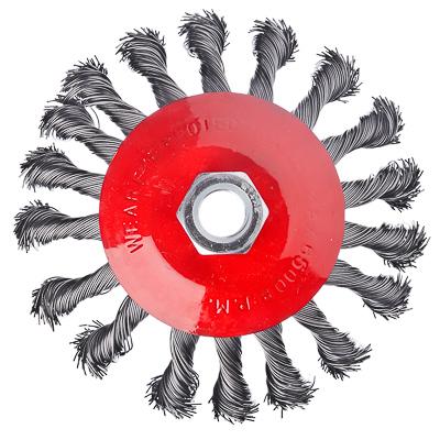 ЕРМАК Щетка металл. для УШМ 115мм/М14, крученая (тарелка) - фото товара