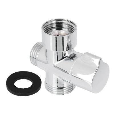 Дивертор для смесителя, поворотный, тип 1, хром, цинк - фото товара