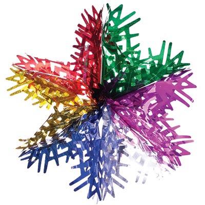 СНОУ БУМ Гирлянда-подвеска 40см ПВХ, многоцвет, в виде Снежинки, MYH-093 - фото товара