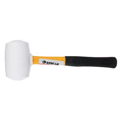 ЕРМАК Киянка, белая резина, фибергласовая обрезиненная рукоятка 460гр - фото товара