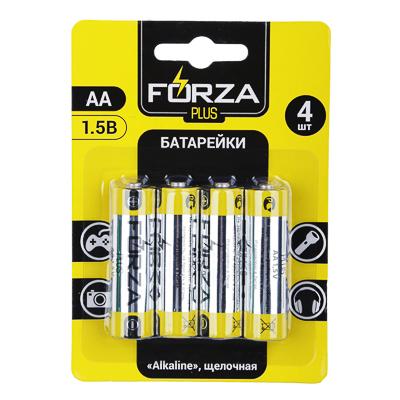 Батарейки щелочные, 4 шт, щелочная, тип AA (LR6), BL,