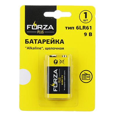 FORZA Батарейка 1шт  Alkaline  щелочная, тип Крона (6LR61), BL - фото товара