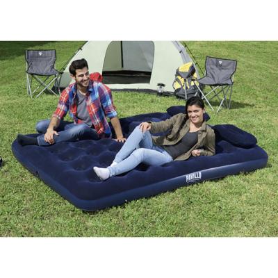 BESTWAY Кровать надувная Queen, 203x152x22см, с ручным насосом и 2 подушками, 67374N - фото товара