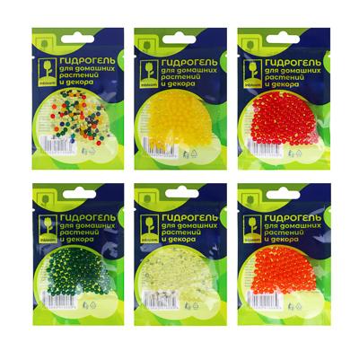 INBLOOM BY Гидрогель для домашних растений и декора  Шарики , полимерный материал, 6 цветов - фото товара