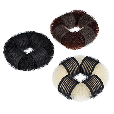 BERIOTTI Заколка-бублик для волос, мягкий поролон с липучками, 8см, 3 цвета - фото товара