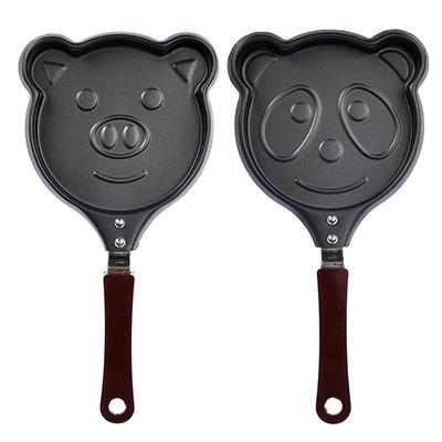 Фото товара Мини-сковорода а/п угл сталь, d13,5см,  Забавные животные , 2 дизайна
