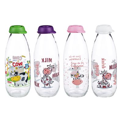HEREVIN Милки Бутылка для молока 1000 мл, стекло, 3 цвета, 111708 - фото товара