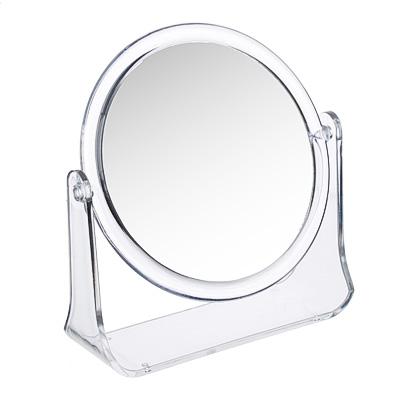 ЮниLook Зеркало настольное круглое, пластик, стекло, d14см, прозрачный - фото товара