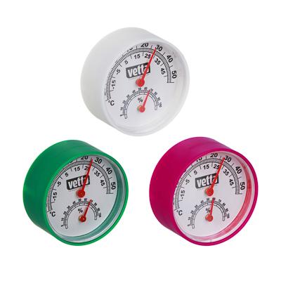 INBLOOM Термометр + влагомер на блистере, 6,3см, металл, пластик, 3 цвета - фото товара