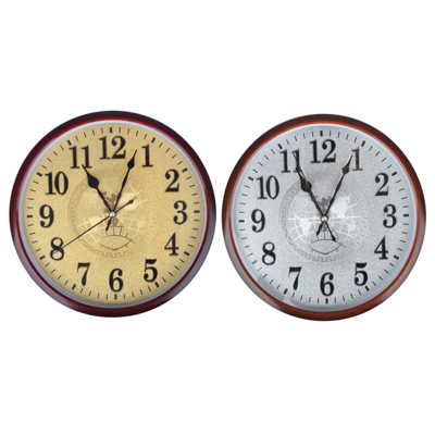 LADECOR CHRONO Часы настенные,  серебро/золото  d29,5см, пластик, плавный ход, 1хАА, 2 цвета - фото товара
