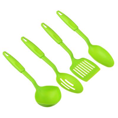 Набор кухонных принадлежностей 4 пр., пластик, зеленый, арт С1004