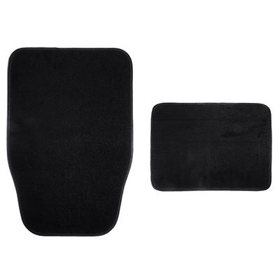 NEW GALAXY Набор ковров ворс 4шт, универсальные, черные Dark - фото товара