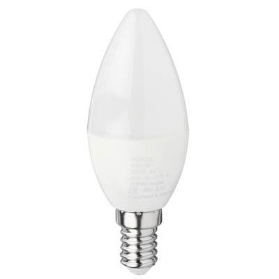 FORZA Лампа светодиодная свеча С37 5W, E14, 420lm 4000К - фото товара
